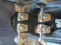 Epiphone EB-3 Electric Bass Guitar Ebony Black SG EB3 By Gibson + New Hard Case