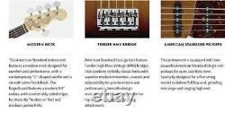 Fender American Standard Jazz Bass V 3-Tone Sunburst With Fender ABS Molded Bass