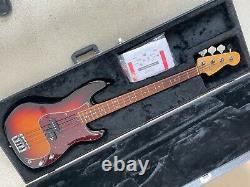 Fender American Standard Precision Bass Rosewood Fingerboard Sunburst Body