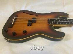 Fender Japan PBAC-100 Thinline Piezo Pickup Precision Bass 3-Tone Sunburst