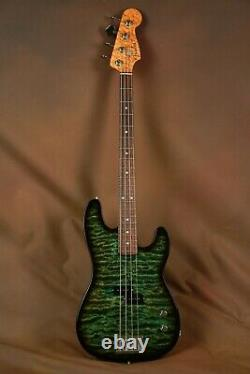 Fender Masterbuilt Precision P Bass Slab Body Quilted Maple