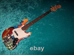 Fender Mexican Jazz Bass standard MIM Mexico guitar vintage design custom paint