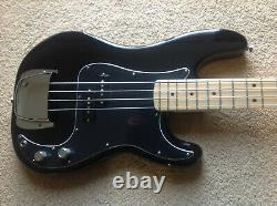 Fender Precision American Standard Bass S1 Black-Maple 2006 withCase