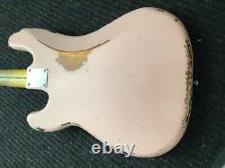 Fender Precision Bass, Relic Shell Pink over Sunburst