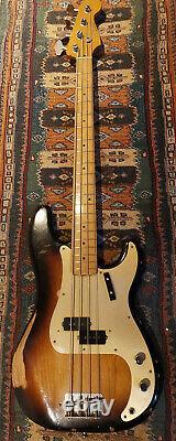 Fender Roadworn Precision Bass Sunburst 2010