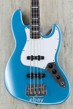 G&L Tribute JB 4-String Electric Bass Brazilian Cherry Board Lake Placid Blue