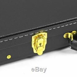 Guardian CG-044-B Vintage Hardshell Case for Electric Bass Guitar, Black