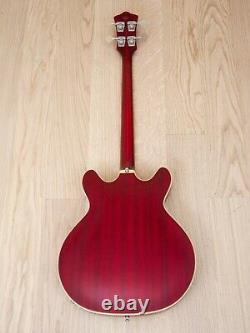 Guild Starfire Bass Newark St. Collection, Cherry Red with Case