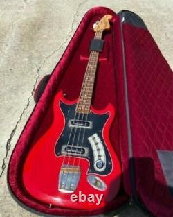 HAGSTROM RH BASS GUITAR RED VINTAGE 1966 SWEDEN Withcase all original