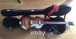 Hofner Violin Right Handed Electric Bass Guitar + Gig Case + Strap + Lead