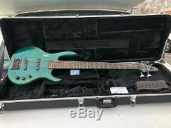 Hohner B Bass V 5 String Electric Bass Guitar Active with Hard Shell Case