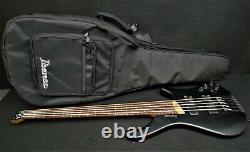 IBANEZ EHB1005 BKF Bass Workshop 5 STRING HEADLESS BASS GUITAR Black Bartolini's
