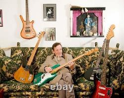 Jack Bruce Cream owned, Warwick Jazz Man Fretted Bass, flight case Photo&Certifi