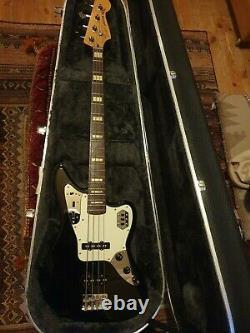 Japanese Fender Jaguar Deluxe series Bass in Black