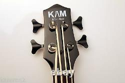 KAM Mini Bass high output Solid body Ukulele Bass SUB Satin Black
