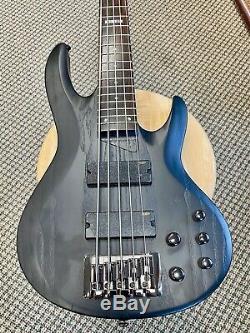 LTD B-335 SBLK 5 string electric bass by ESP Guitars, NEW