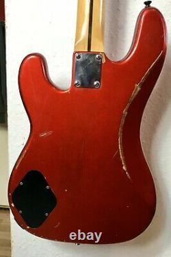 Marlin metallic red p bass guitar made in Korea. Vintage 80s