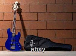Monoprice Indio Jamm 5-String Electric Bass Blue, With Gig Bag