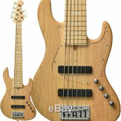 New Bacchus HJB6-STANDARD ASH CNA Clear Natural Electric Bass Guitar From Japan