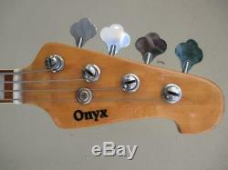 Onyx Jazz-Style Electric Bass Guitar 1970s Made in Korea MIK