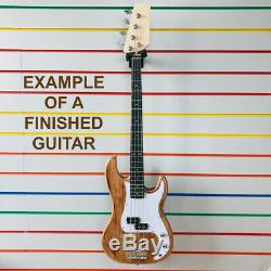 P Electric Bass guitar kit guitar unfinished all parts unbranded DIY precision
