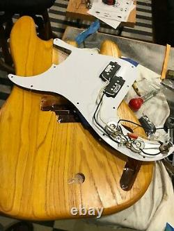 Partscaster Precision Bass, swamp ash, Fender-licensed maple neck, Badass saddle