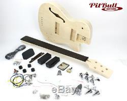 Pit Bull Guitars DHB-5 Semi-Hollow Electric Bass Guitar Kit