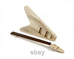 Pit Bull Guitars FVB-4 Electric Bass Guitar Kit (Black Hardware)