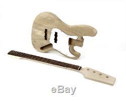 Pit Bull Guitars JBA-4 Electric Bass Guitar Kit (Ash Body)