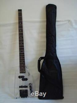 Pro 4 String Clear Body Lucite Electric Bass Guitar, Headless Brand New