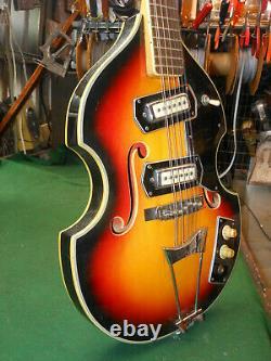 Rare Beatles 12 String Conrad Violin 60's Vintage Electric Bass Guitar