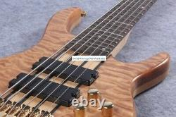 Rare Ken Smith 6 Strings Natural Maple Electric Bass Guitar Chinese eddition