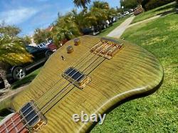 Rickenbacker 4004 Cii Cheyenne Bass Rare Green Maple Flame Original Case