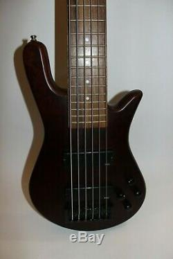 SPECTOR LG6CLSSG 6-String Electric Bass Guitar Brown with hard Case