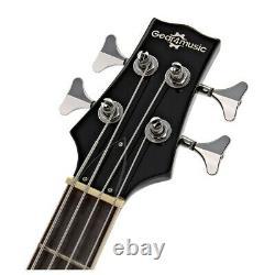 San Francisco Semi Acoustic Bass by Gear4music Black