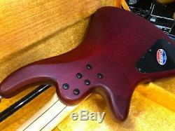 Schecter Custom 4 Electric Bass Guitar Vampire Red with Hard Sell Case