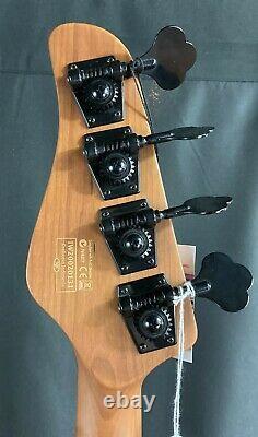 Schecter P-4 Exotic Zebrawood 4-String Bass Guitar Fade Vintage Sunburst Finish
