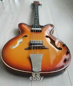 Soviet vintage bass electric guitar Maria PLASTIC body USSR 80s