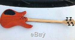 Spector Legend 4 String Electric Bass Guitar Quilted Orange