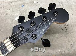Squier Contemporary Active Jazz V Electric Bass Guitar Satin Black 5 String