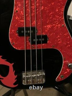Squier by Fender Pete Wentz Black Electric Bass Guitar Fall Out Boy Rare