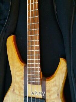 Status Graphite Electric Bass Guitar Good Condition With Tgi Gig Bag Made In Uk