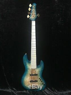 Swing Jazz 5 String Blue Burst Electric Bass Guitar