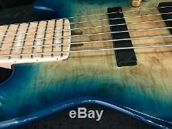 Swing Jazz 6 Blue Burst 6 Strings Electric Bass Guitar