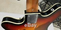 Teisco EP-200B 2 Pickup Bass Guitar RARE! Semi Hollow Good Condition 1967