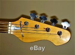 Teisco/silvertone Vintage 1968/69 Japan Model1490 Sunburst Bass Guitar