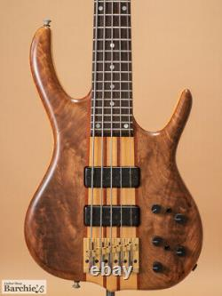Used 2007 Ken Smith BSR5TNW-CM Natural 5 String Bass Long Scale (Black Tiger)