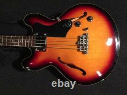 Used Epiphone RIVOLI i BASS VC Electric Bass Semi Hollow 1H WithGB Free Ship