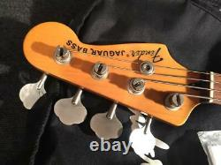 Used Fender Japan JAB-EQ Black MIJ Jaguar Bass Nice & Clean WithOGB Free Shipping