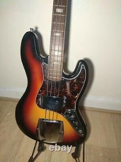 VINTAGE 1970s JAZZ BASS GUITAR made in JAPAN LAWSUIT Sunburst